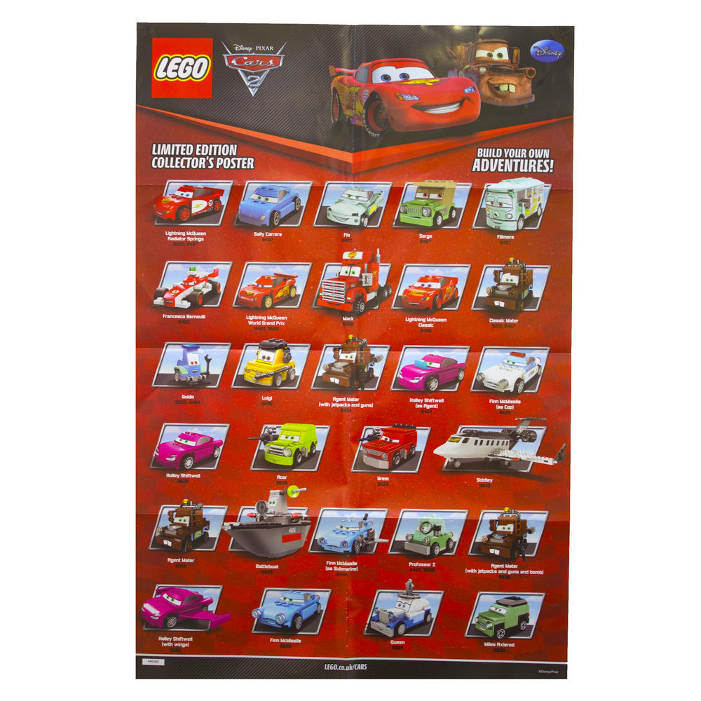 Disney Poster Children Kids Cars 2 Characters Lego Room Wall 8 Pack