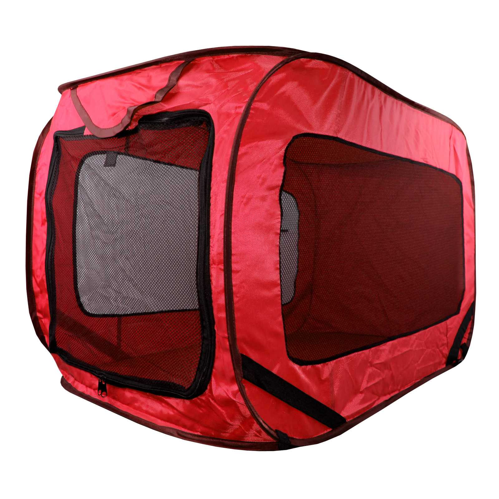 Thumbnail 1 ...  sc 1 st  eBay & Kennel Dog Canvas Pop Up Travel Cage Run Light Weight Portable Red ...