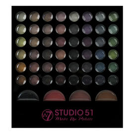 Makeup Eyeshadow Palette W7 Studio 51 Piece Set Brush Colour Cosmetic Face Kit Preview