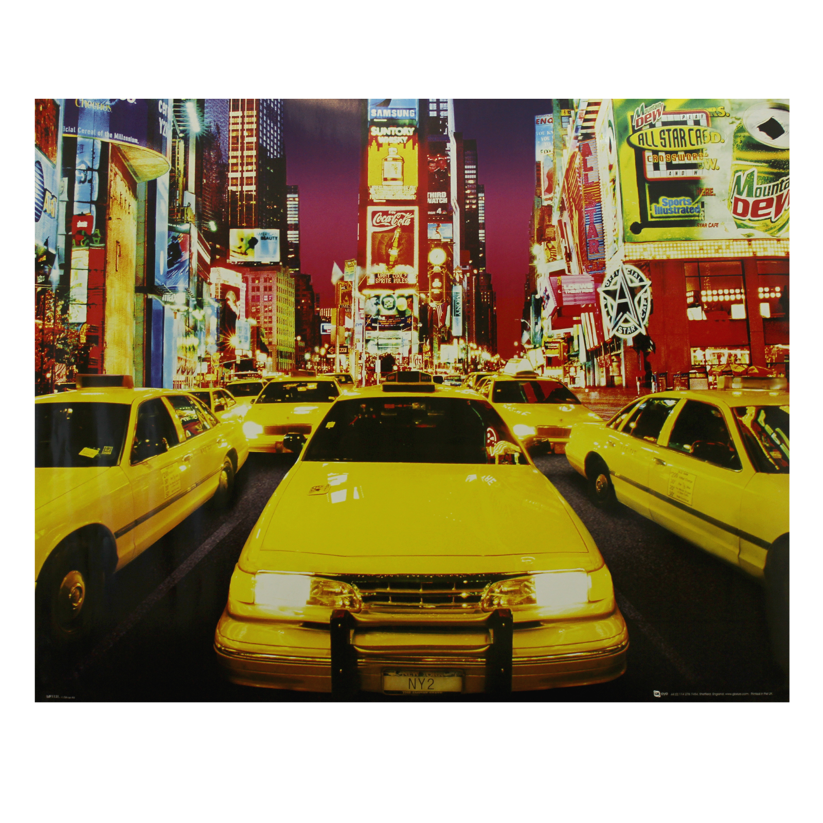 Times Square New York Manhattan Poster Print Wall Art Decor 40 x ...