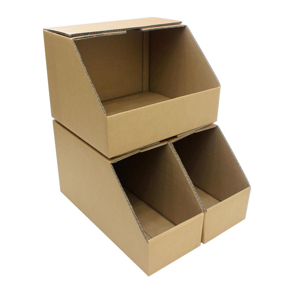 Garage Cooling Fans >> Storage Bins Large Heavy Duty Picking Cardboard Pick Shelf Rack Warehouse Garage Parts Bin Other ...