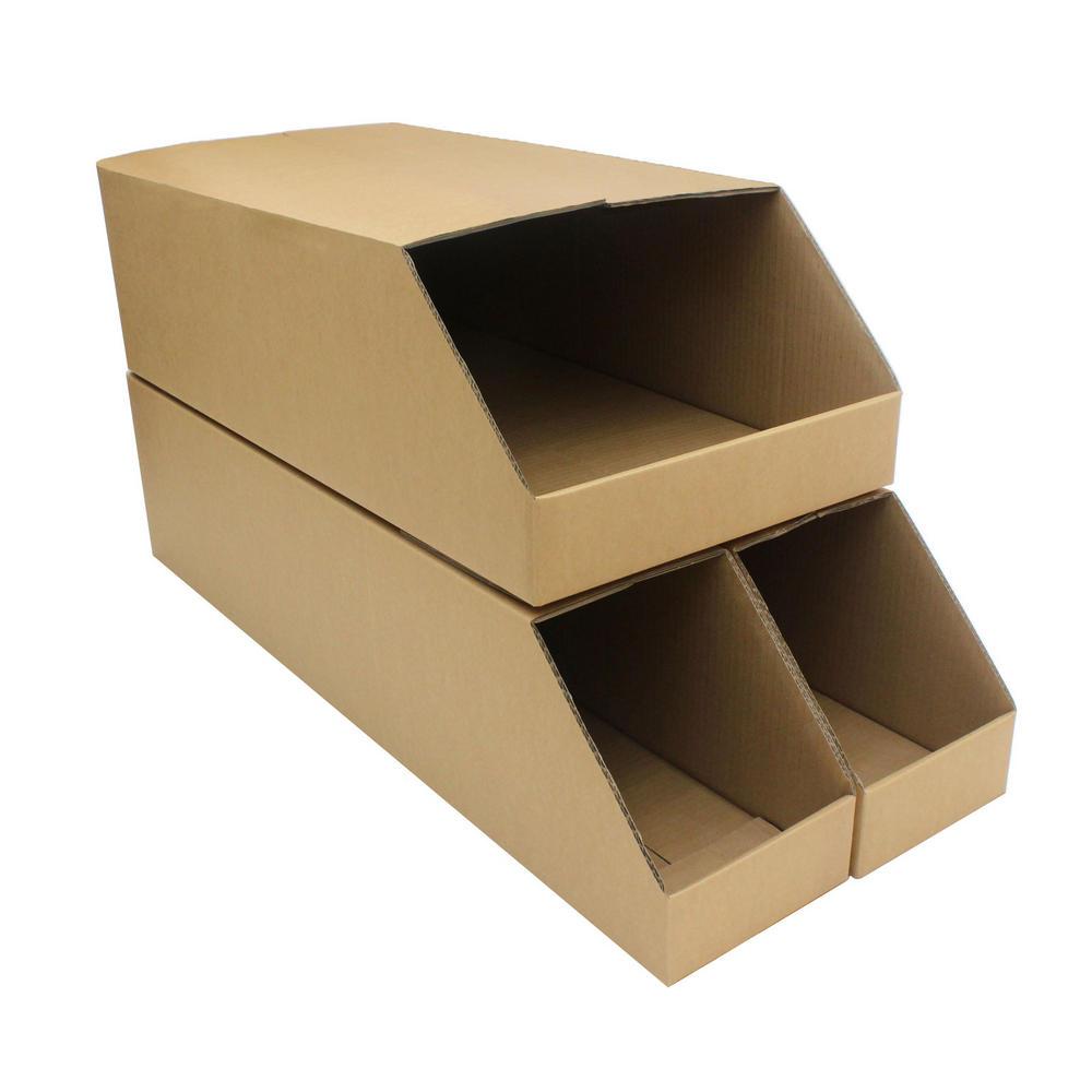 Storage bins huge heavy duty picking cardboard pick shelf for Best storage bins for garage