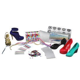 Girls Shoe Design Play Set Crayola Hot Heels Kids Fashion Sticker Art Kit 5 Pack Preview