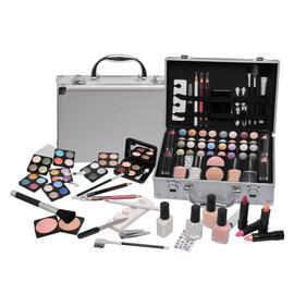 Vanity Case Beauty Cosmetic Set Travel Make Up Box Train Holder Storage 58 Piece Preview