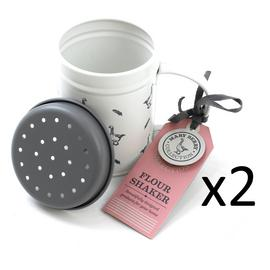 Flour Shaker Cake Baking Sugar Sifter Mary Berry Chocolate Kitchen Sprinkler x2 Preview