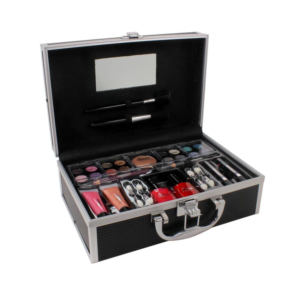 Vanity Case Urban Beauty Makeup Travel Set Sleek Black