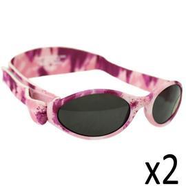 Childs Sunglasses Kidz Banz Adjustable Camo Pink Diva Girls Adventure Strap x2 Preview