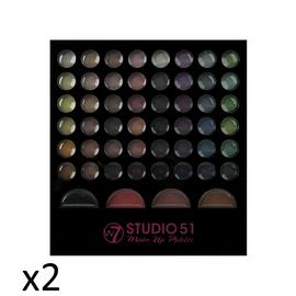 Make Up Palette Eye Shadow Blusher Bronzer Professional Beauty W7 Cosmetics x2 Preview