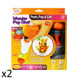 Fruit Shaper Vegetable Creative Wonder Pop Chef Cutter Slicer Party Fun 10pcs x2 Preview