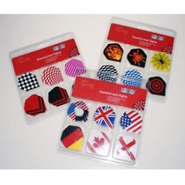 Dart Flights Standard Shape Assorted Colour Designs Boyz Toyz 6 Sets (18 Total) Preview