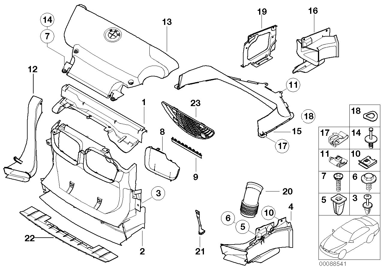 E46 Parts Diagram 17 Wiring Images Diagrams Bmw Engine 88541 3 Series Front Right Air Duct S54 51712695702 Ebay At