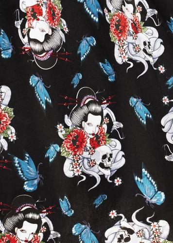 thumbnail 14 - HELL BUNNY Floral 50s DRESS Blue Rockabilly GEISHA All Sizes