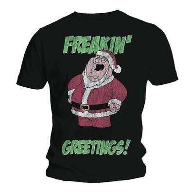 Official T Shirt FAMILY GUY Peter FREAKIN' GREETINGS Christmas