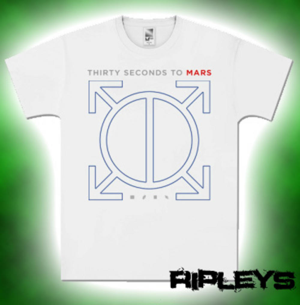 a7443ac1 Official T Shirt 30 SECONDS TO MARS White Logo ORBIS S