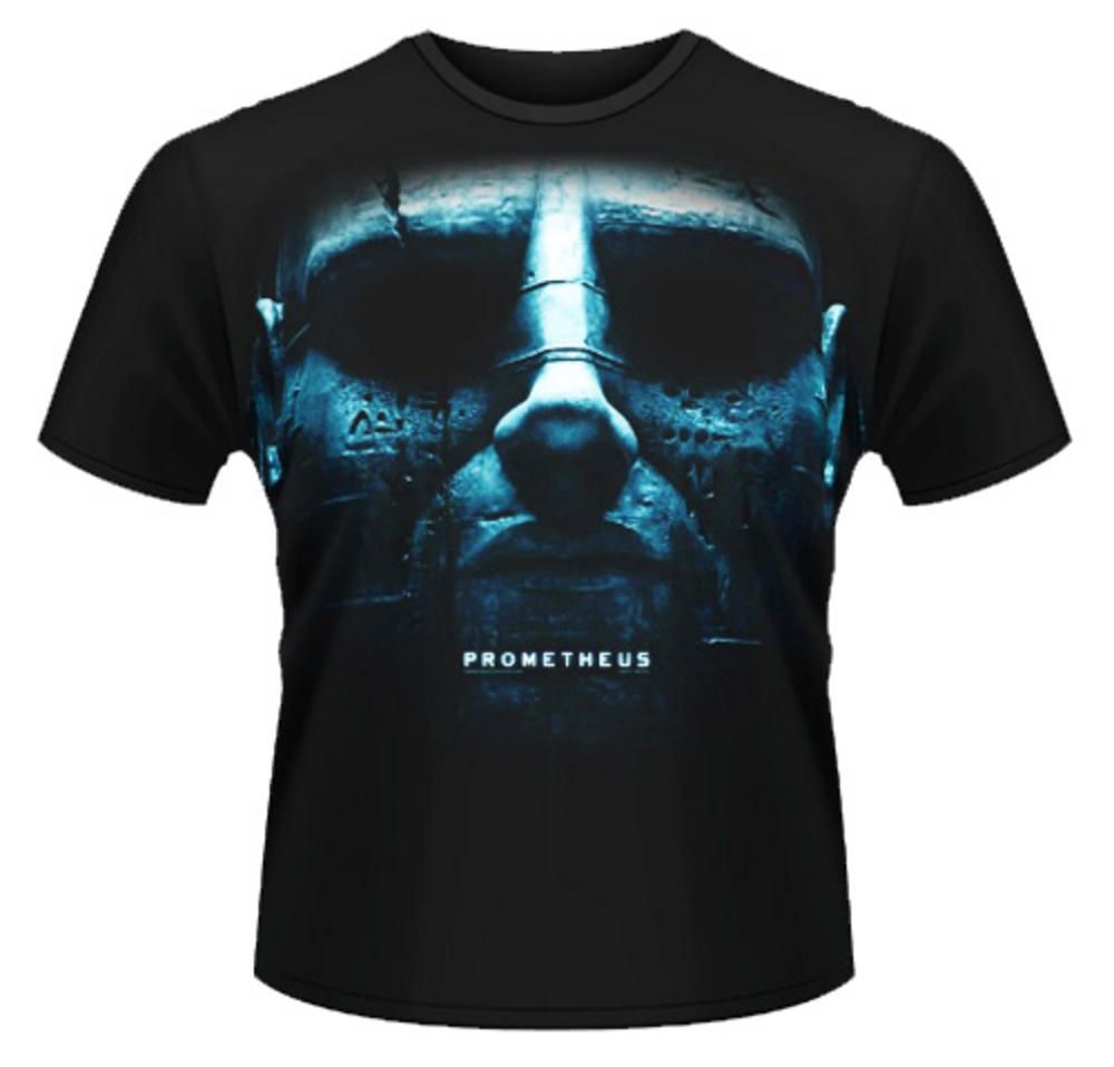 Official T Shirt PROMETHEUS Movie JUMBO FACE Head Blue Glow XL