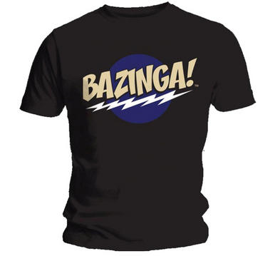 Official T Shirt BIG BANG THEORY Black BAZINGA Sheldon All Sizes