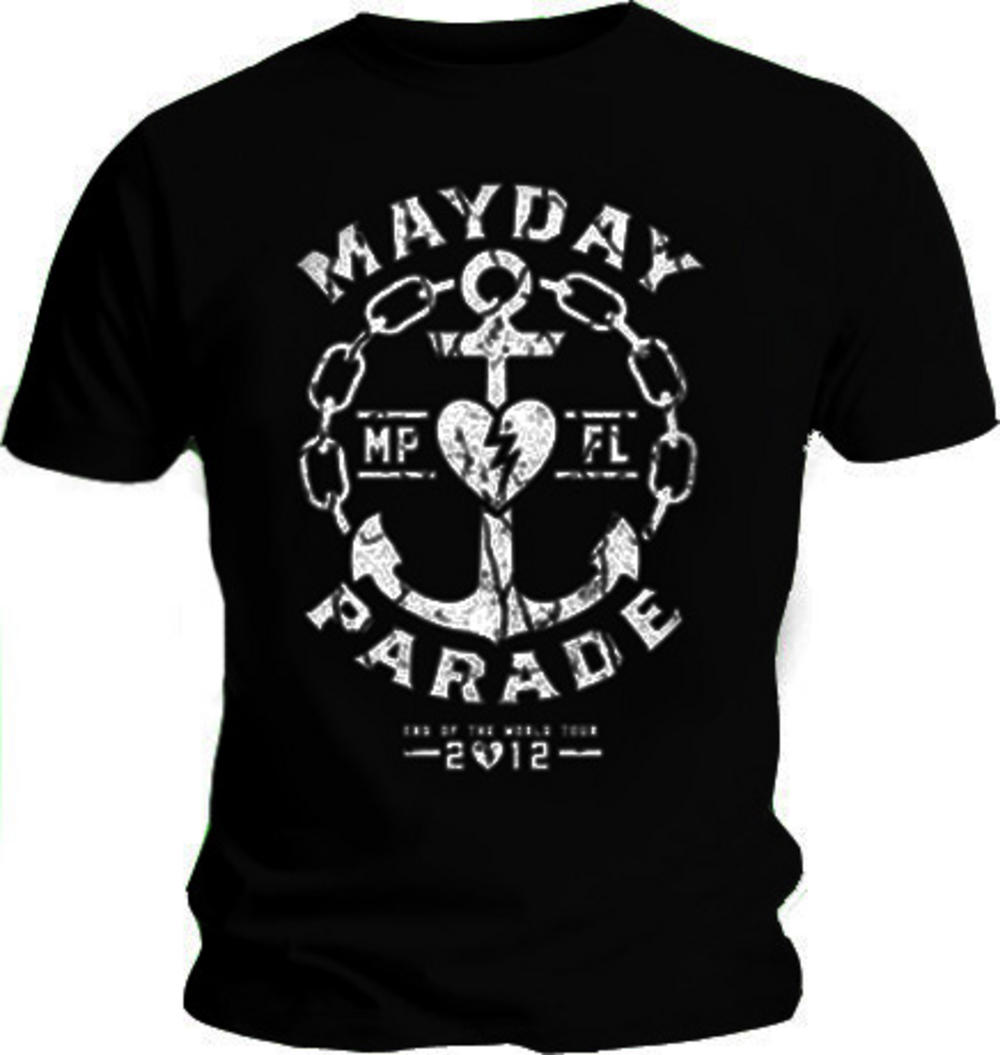 Official T Shirt Mayday Parade Distressed Anchor Logo All Sizes