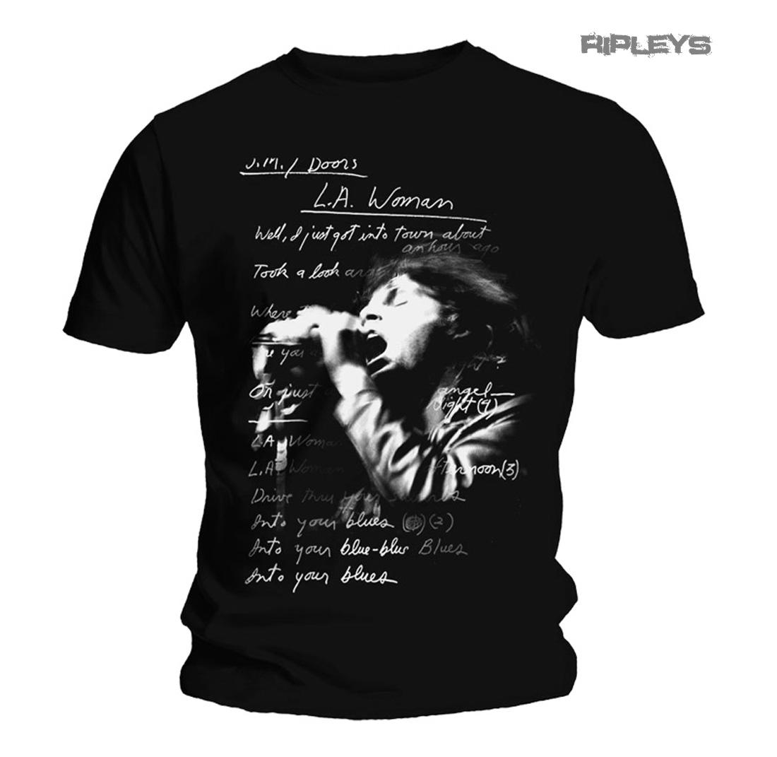 9e5c68ae Sentinel Official T Shirt THE DOORS Jim Morrison LA WOMAN LYRICS All Sizes