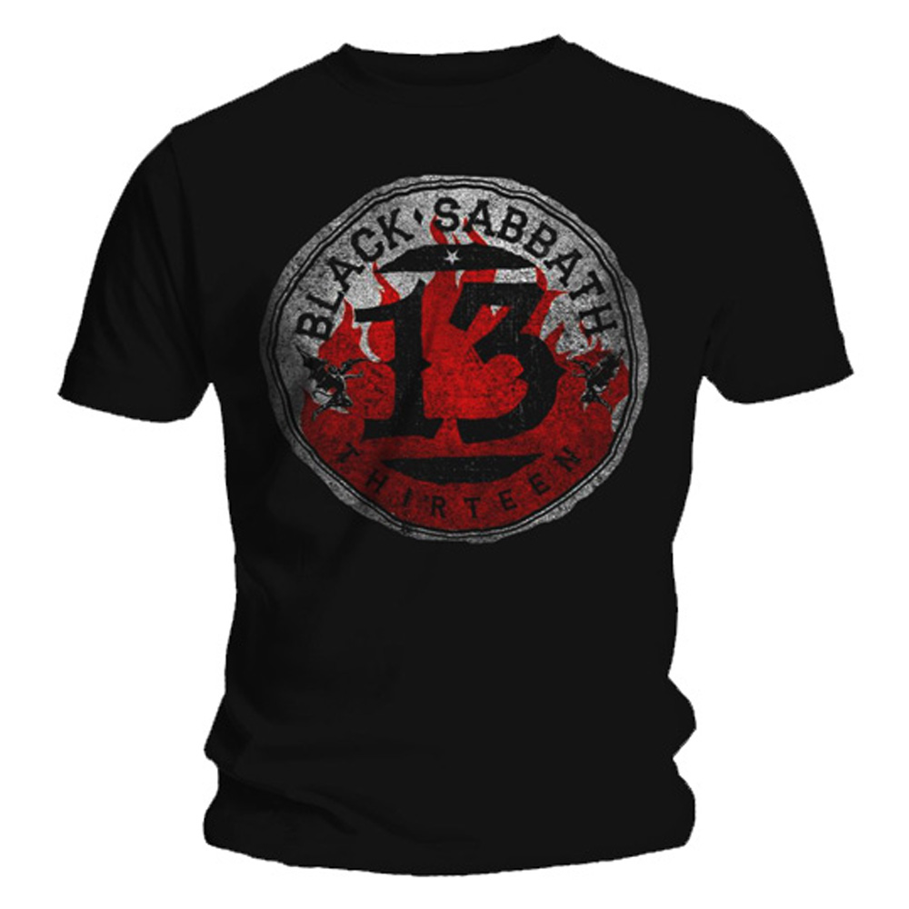 Oficial-T-Shirt-Black-Sabbath-Black-13-album-Converse-logotipo-Todos-Los-Tamanos miniatura 3