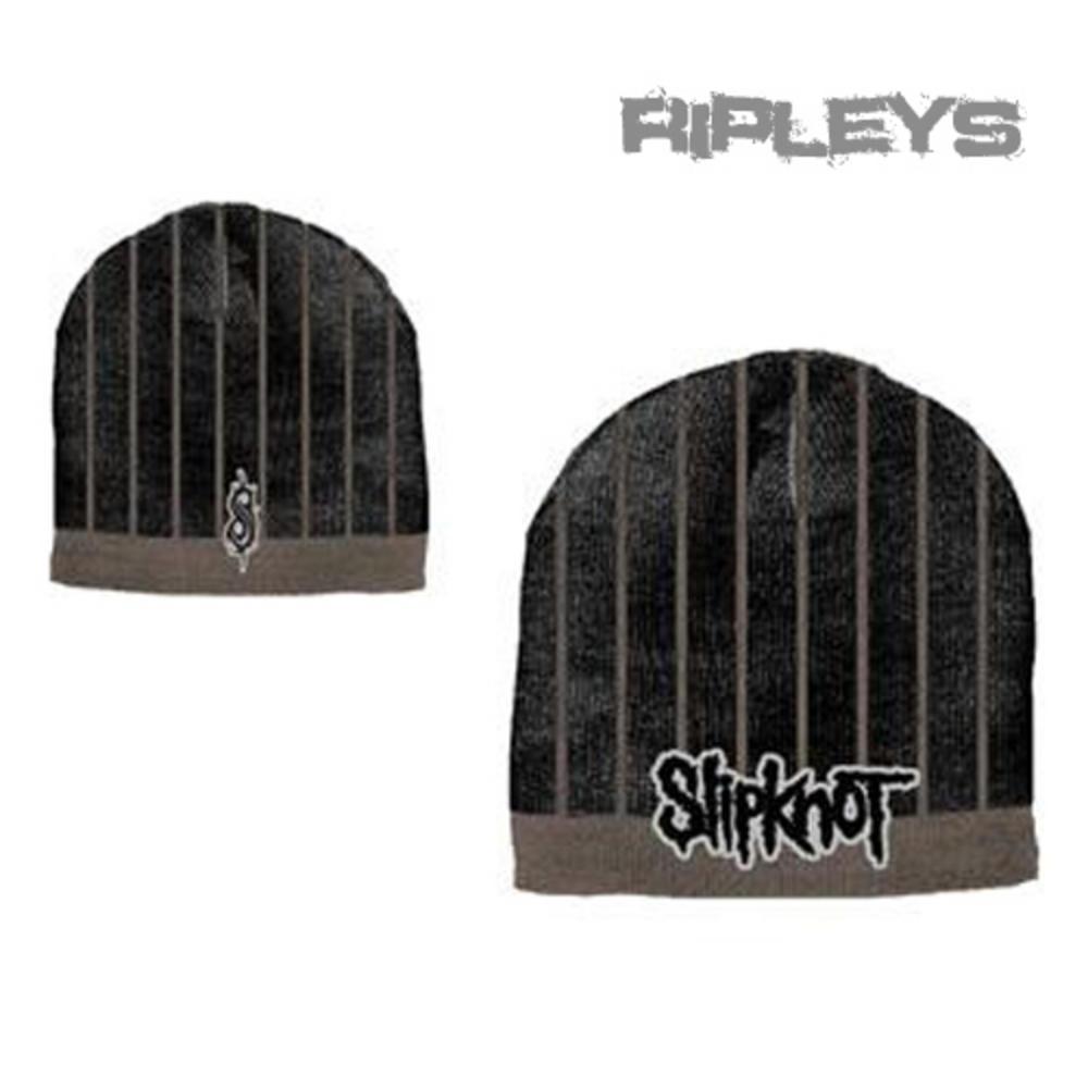 b282615a817a Official SLIPKNOT Grunge Metal BEANIE HAT Black/Brown Logo