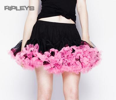 HELL BUNNY Black PINK TUTU Skirt Burlesque All Sizes