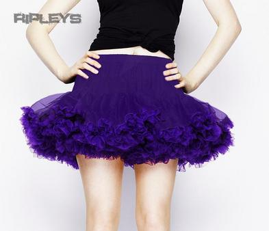 HELL BUNNY ALL OVER PURPLE TUTU Skirt Burlesque All Sizes