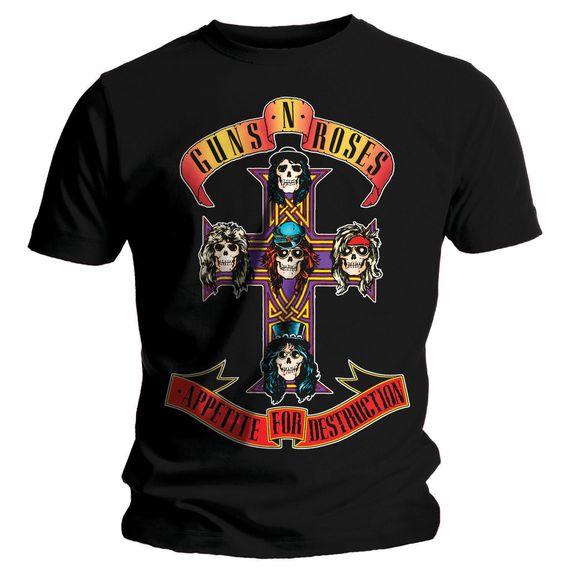 Guns And Roses Shirts : official licensed t shirt guns n roses appetite all sizes ebay ~ Hamham.info Haus und Dekorationen