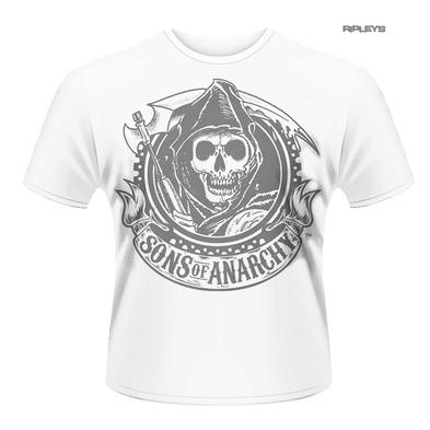 Official T Shirt SONS OF ANARCHY Distressed WHITE REAPER Vintage All Sizes