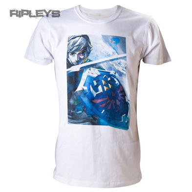 Nintendo Official T Shirt ZELDA Game WHITE With Link All Sizes Preview