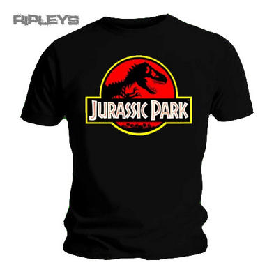 Official T Shirt JURASSIC PARK Classic Dinosaur Logo All Sizes