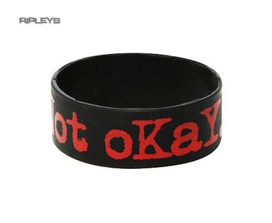 Official MY CHEMICAL ROMANCE Silicone Wristband NOT OKAY Black Gift