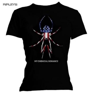 Official Ladies T Shirt MY CHEMICAL ROMANCE American Widow All Sizes