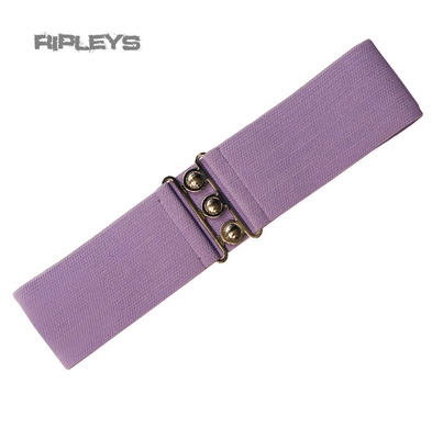 HELL BUNNY Retro 50s Waist BELT Rockabilly Elasticated Lavender Purple All Sizes
