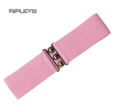 HELL BUNNY Retro 50s Waist BELT Rockabilly Elasticated Dolly Pink All Sizes