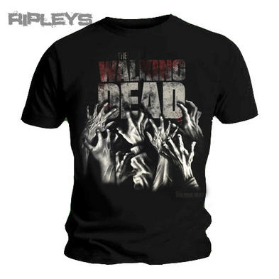 Official T Shirt THE WALKING DEAD Logo HANDS REACHING Zombie All Sizes Preview