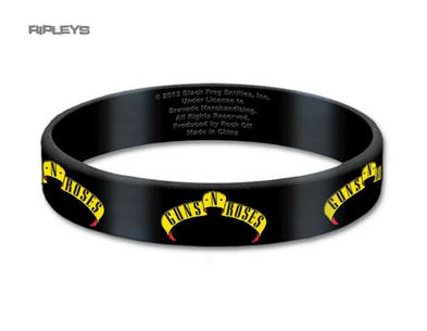 Official GUNS N ROSES Silicone Wristband Appetite LOGO Black Gift Preview
