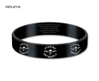 Official A7X AVENGED SEVENFOLD Silicone Wristband DEATH BAT Logo Black Gift
