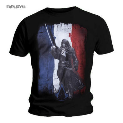 Official T Shirt ASSASSINS CREED Flag UNITY Tricolore All Sizes