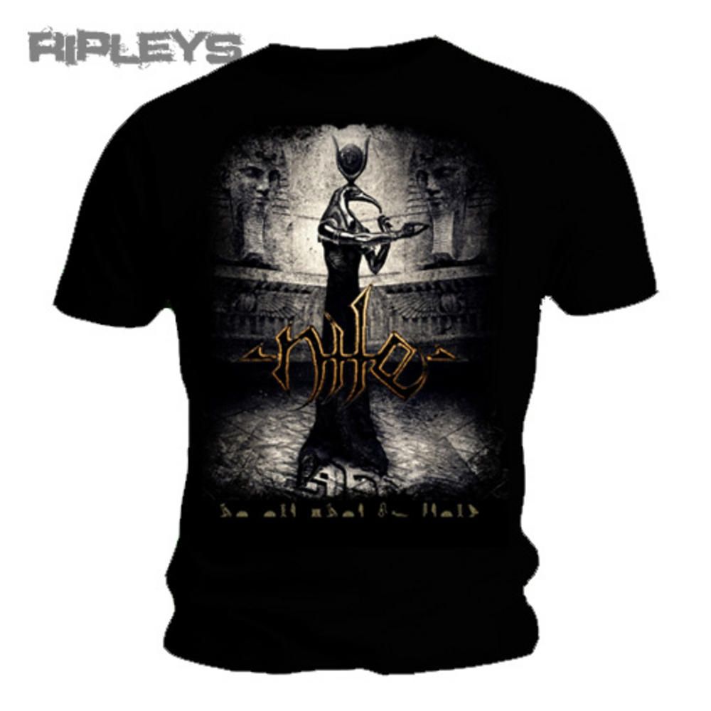 28753e02 Official Band T Shirt NILE Black Death Metal THOTH Logo All Sizes