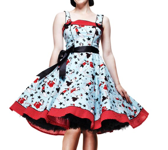 HELL-BUNNY-50s-Rockabilly-DIXIE-DRESS-Pin-Up-Vintage-All-Sizes thumbnail 8