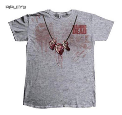 Official T Shirt THE WALKING DEAD Grey Dixon EAR Daryl All Sizes