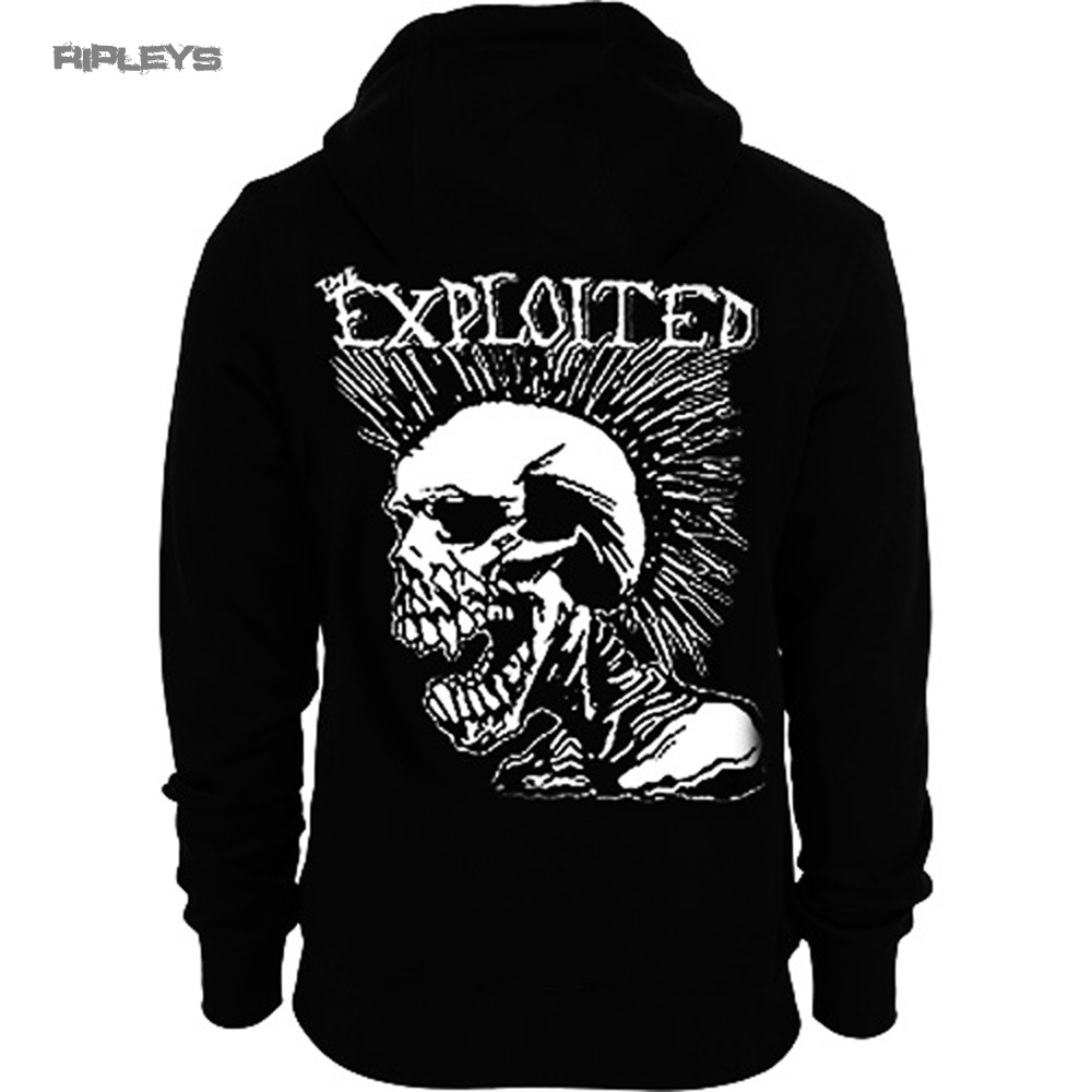 Official-THE-EXPLOITED-Hoody-Hoodie-MOHICAN-Skull-Punk-All-Sizes thumbnail 4