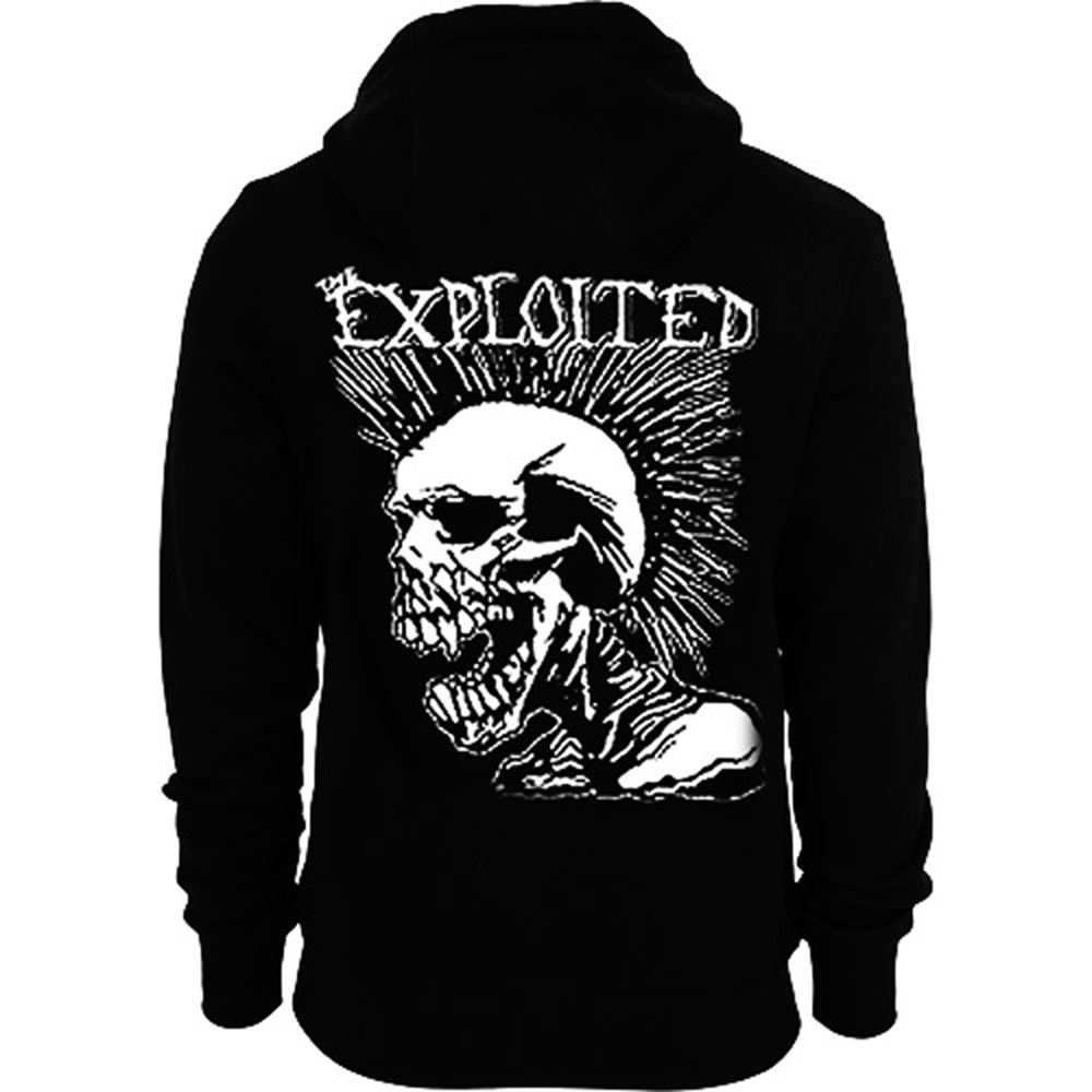 Official-THE-EXPLOITED-Hoody-Hoodie-MOHICAN-Skull-Punk-All-Sizes thumbnail 5
