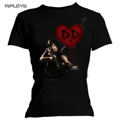 Official Skinny T Shirt THE WALKING DEAD Daryl Dixon LOVE Wings All Sizes