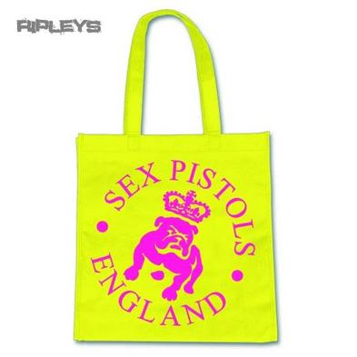 Official Eco Shopper Tote Shopping Bag SEX PISTOLS Punk Logo Bulldog