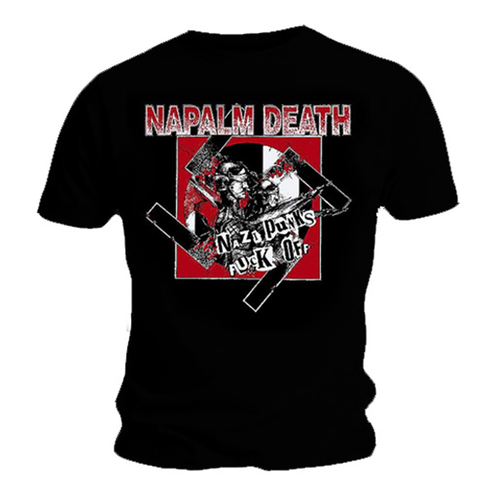 Official-T-Shirt-NAPALM-DEATH-Black-Death-Metal-NAZI-Punks-All-Sizes thumbnail 3