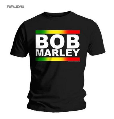 Official T Shirt BOB MARLEY Logo Rasta Band BLOCK Classic All Sizes