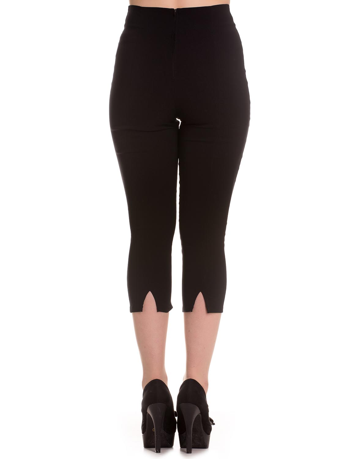 Sentinel Hell Bunny 50s Plain Black Pedal Pushers TINA Capris Capri Trousers  All Sizes b5acbcee5