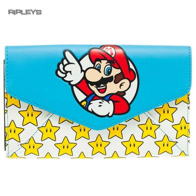 Official MARIO 64 Nintendo Game Large Purse Wallet Gold Stars Gift Preview
