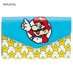 Official MARIO 64 Nintendo Game Large Purse Wallet Gold Stars Gift Thumbnail 1